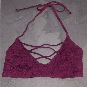 VS PINK burgundy bikini top